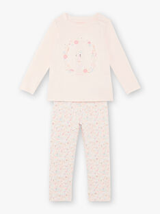 Pink pyjama child girl ZEPOMETTE / 21E5PF15PYJD328