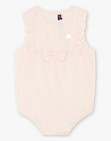 Pale pink textured cotton romper suit ZACHIARA / 21E1BFI1BARD319