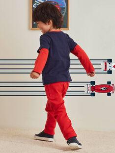 Baby boy's red pants BOGITAGE / 21H3PGM3PANF528