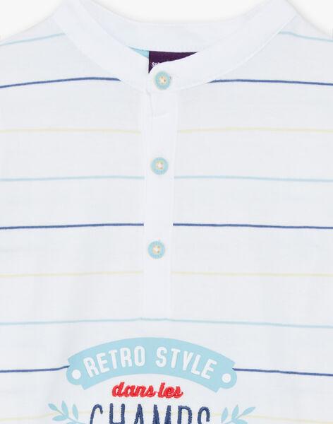 Boy's white and blue striped T-shirt TYZOAGE / 20E3PGZ1TMC000