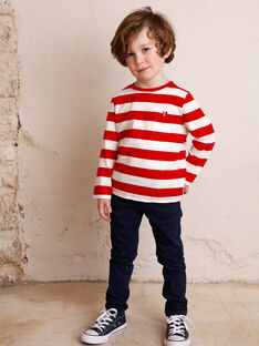 Boys' navy pants ZAZITAGE1 / 21E3PGK2PAN070
