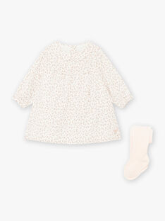 Flowery printed dress and tights set for a newborn girl BOLOLA / 21H0CFK3ENS001