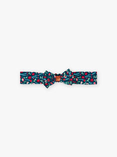 Baby girl duck blue headband with floral print BAGUSTA / 21H4BF91BAN714