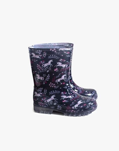 Navy RAIN BOOTS VICORNETTE / 20F10PF11D0C070