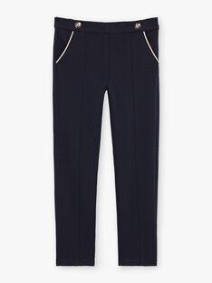 Baby girl's navy blue pinch pants BEMILETTE2 / 21H2PF51PAN070