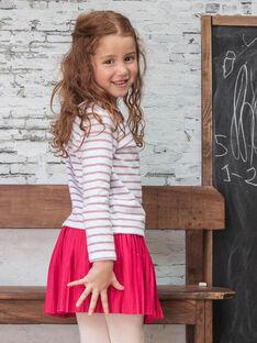 Girl's fuchsia pleated skirt BROJUPETTE3 / 21H2PFB2JUP304