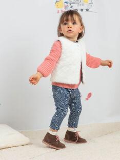 Baby girl's petrol blue floral print legging BAKIM / 21H4BFL1CAL715