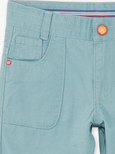 Water green jogger pants in cotton twill ZAGOAGE / 21E3PGI2PAN629