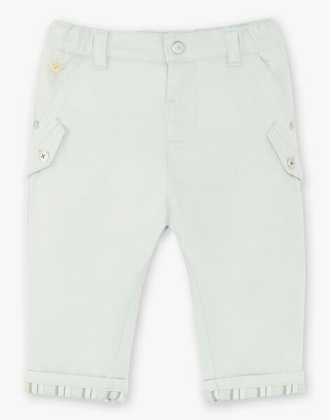 Light green pants baby boy ZAAXTON / 21E1BG71PANG619