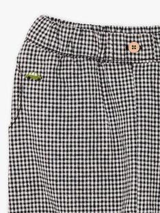 Baby boy's black and white checkered pants BADARIUS / 21H1BG21PAN090