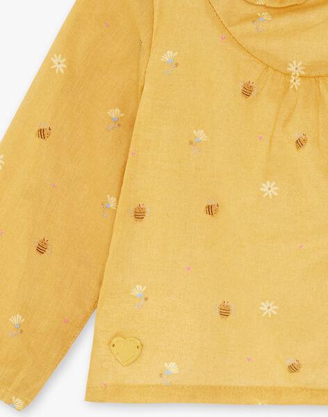 Imperial yellow body-blouse child girl ZADINA / 21E1BF91BODB114