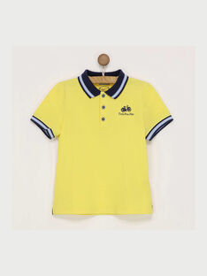 Golden yellow Polo shirt RIHANAGEX / 19E3PGF1POL106