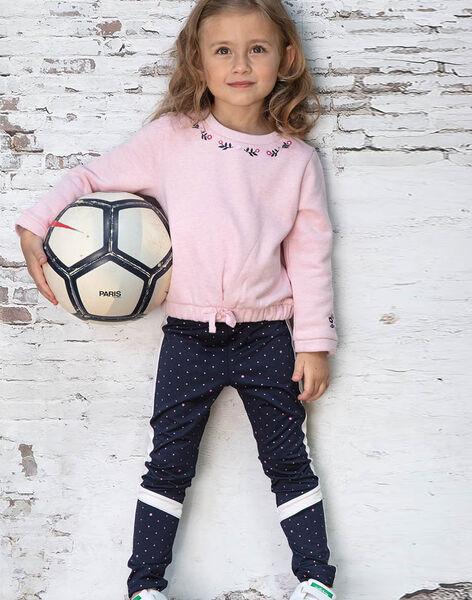 Baby girl navy blue legging with polka dots BROLEGETTE / 21H2PF31LGS070