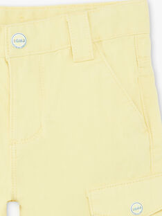 Bermuda shorts lemon yellow child ZELOUAGE / 21E3PGO1BERB104