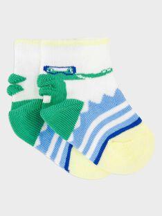 Greyish blue Low socks RAULRICK / 19E4BGP1SOB205