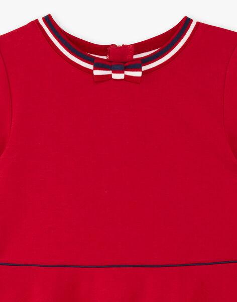 Red dress child girl ZLOMETTE4 / 21E2PFK5ROB719