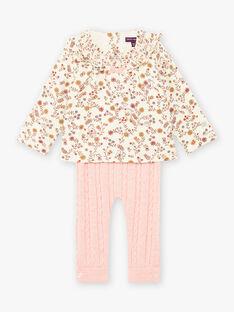 Baby girl printed blouse and knit legging set BAISTELLE / 21H1BFJ1ENS001