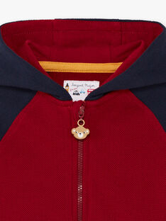 Baby Boy's Red and Navy Hoodie BAFRED / 21H1BG51JGH070