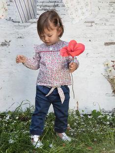 Baby Girl's Printed Jean and Belt BAANGELE / 21H1BF11PANP270