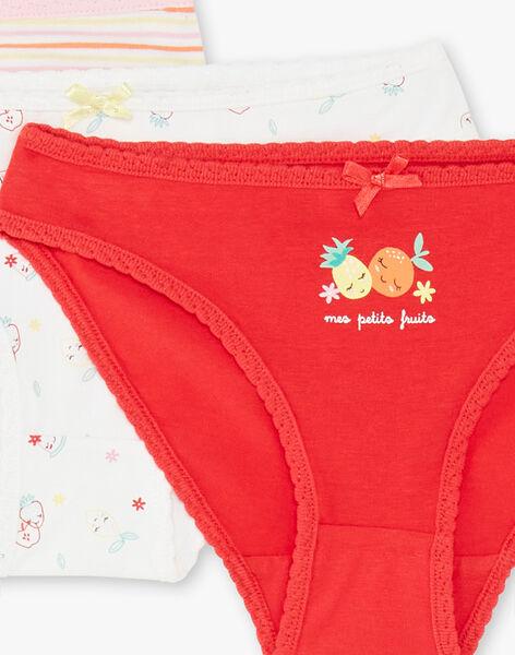 Lot of 3 assorted panties child girl ZECUETTE / 21E5PF32SLI001