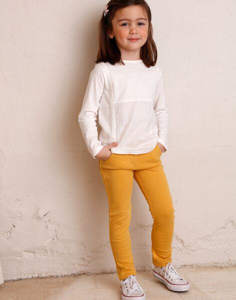 Pants child girl yellow ZLUPETTE2 / 21E2PFK2PANB106