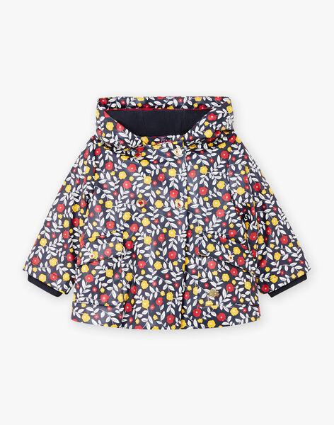 Baby girl's navy blue hooded raincoat BININA / 21H1BFC1IMP070