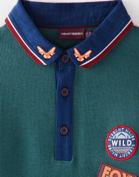 Green POLO SHIRT VIFLAGE / 20H3PGU1POLG611