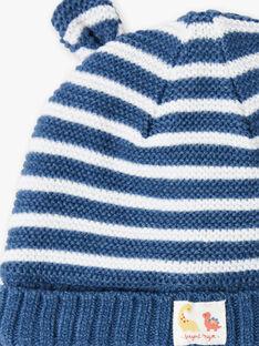 Gentian blue and white mittens baby boy ZUBAJIR / 21E4BGM1BONC230