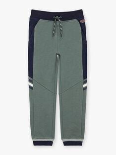 Boy's khaki and navy blue jogging pants BANUAGE2 / 21H3PG31JGB604