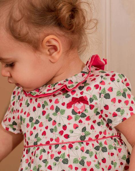 Printed ecru satin blouse with rattle ZAALICE / 21E1BFJ1CHE001