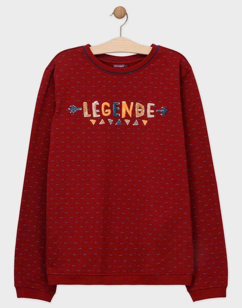 Dark burgundy Sweat Shirt SENOUAGEM / 19H3GHU1SWE503