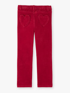 Red PANTS VELOURETTE 1 / 20H2PFG2PAND307
