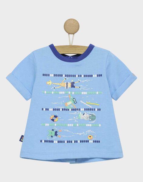 Greyish blue T-shirt RAUMEO / 19E1BGP1TMC205
