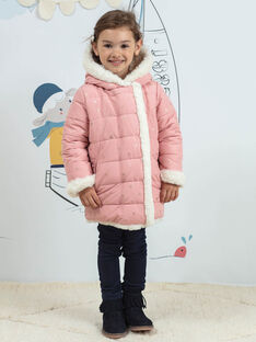 Baby girl pink reversible jacket BLODOUETTE1 / 21H2PFD1D3ED300