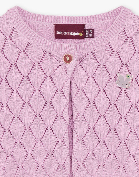 Baby girl pink knitted cardigan BACAITLIN / 21H1BF22CAR329