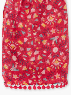 Baby girl peony scarf with floral print TIUJETTE / 20E4PFQ1FOUF510