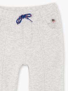 Baby boy grey wool effect pants BABOY / 21H1BG12PAN943