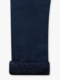 Girl's denim knitted jeans BLAJENETTE / 21H2PFO1JEAK005