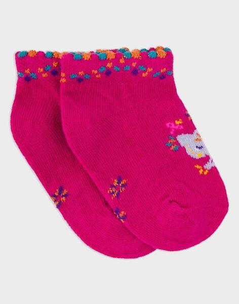 Fushia Low socks RAROSA / 19E4BFM1SOB304