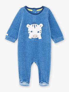 Baby boy blue zebra animation romper BEALVIN / 21H5BG64GRE208