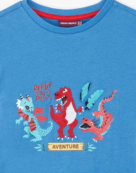 Blue dinosaur print T-shirt ZADRISAGE / 21E3PGJ2TMCC206