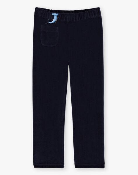 Boy's duck blue pajama T-shirt and pants BEMERAGE / 21H5PG62PYJ714