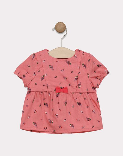 Baby girls' candy rose printed blouse SACELINE / 19H1BF31CHE305