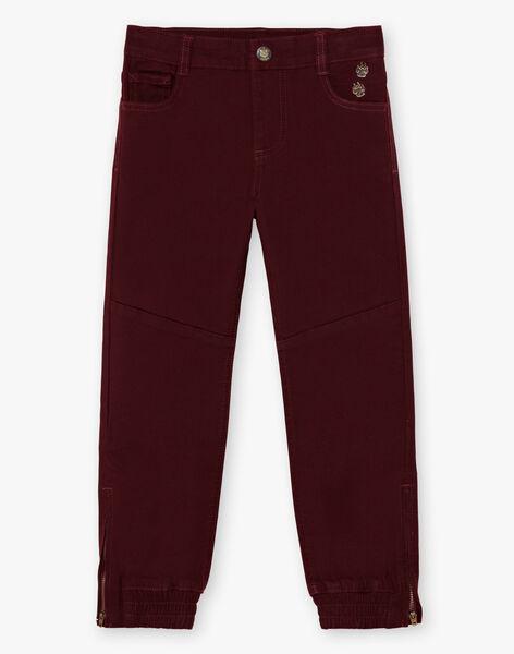 Boy's red pants BEXOTAGE / 21H3PG91PANF511