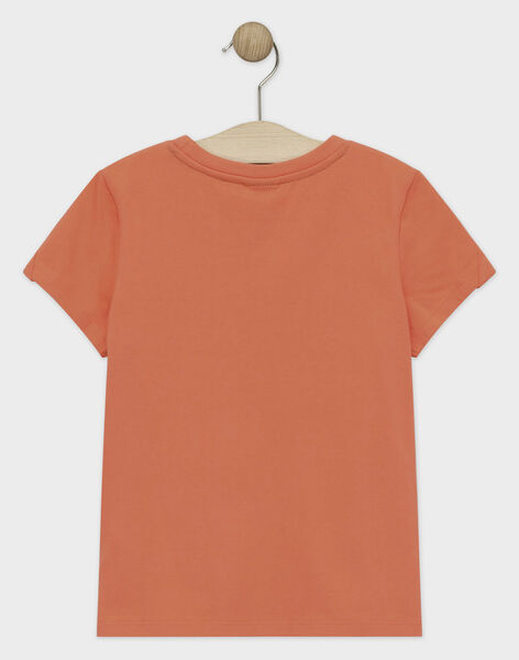 Light coral T-shirt TIONAGE / 20E3PGP2TMC415