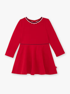 Red dress child girl ZLOMETTE4 / 21E2PFK5ROB719