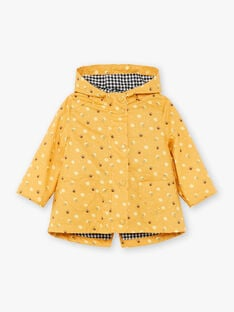 2 in 1 yellow hooded parka ZUANAELLE / 21E1BFM1IMPB114