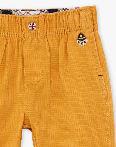 Baby Boy's Mustard Yellow Checkered Pants BAFAKEAR / 21H1BG51PANB114