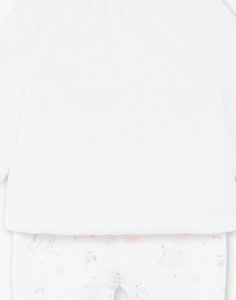 Set fancy velvet vest and tubing pants ecru baby girl ZOLOUNA / 21E0NFG2ENS000