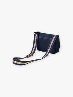 Denim shoulder bag with badges child girl BAZILETTE / 21H4PF52BESP274